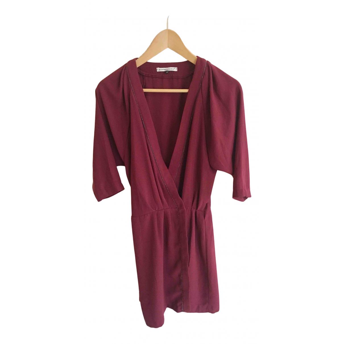 La Petite Francaise \N Kleid in  Bordeauxrot Polyester