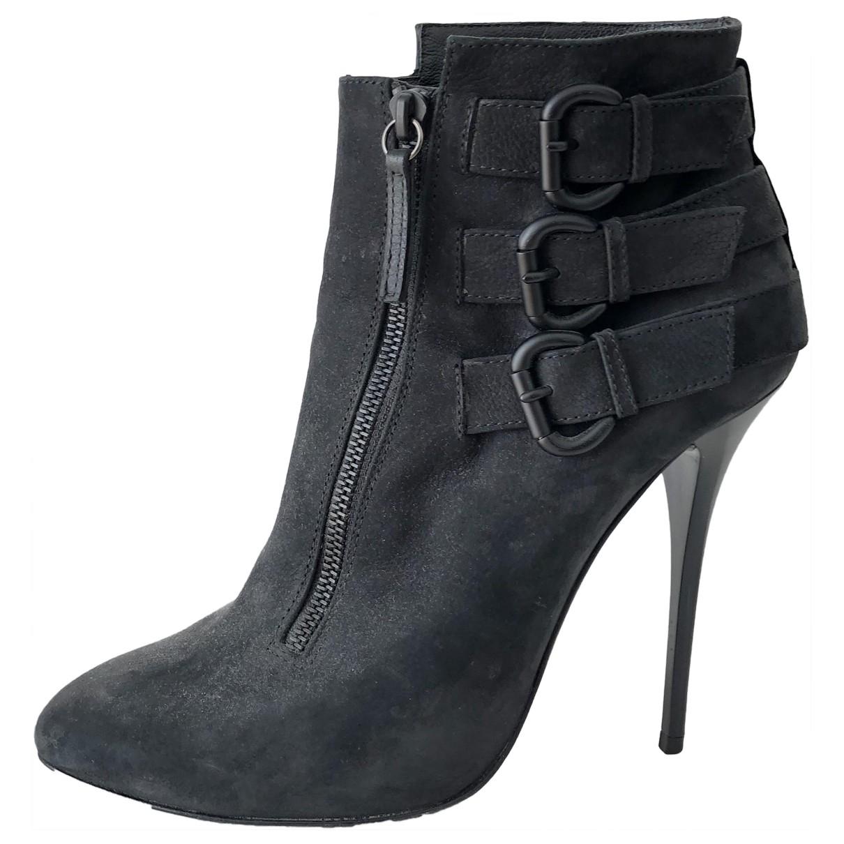 Giuseppe Zanotti - Boots   pour femme en cuir - bleu