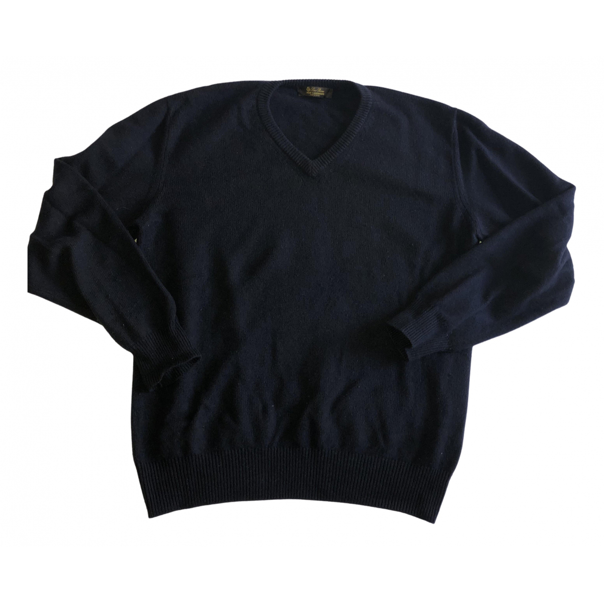 Loro Piana \N Pullover.Westen.Sweatshirts  in  Marine Kaschmir