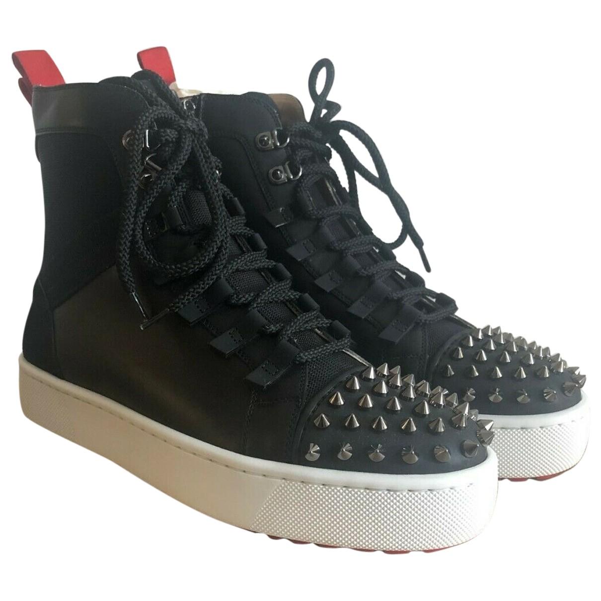 Christian Louboutin - Baskets   pour homme en cuir - noir