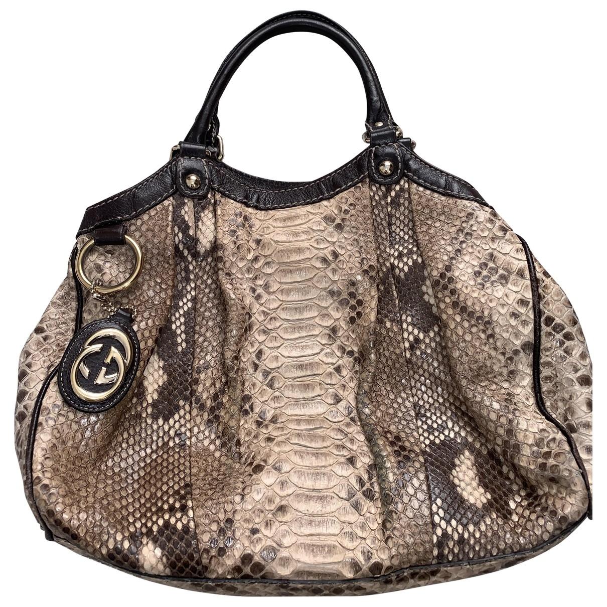 Gucci Sukey Brown Python handbag for Women \N