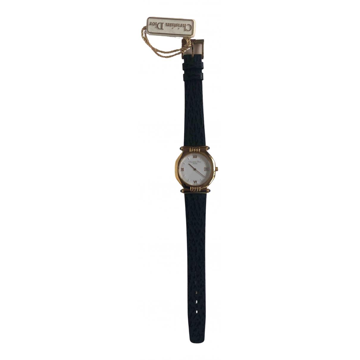 Christian Dior \N Uhr in  Weiss Vergoldet