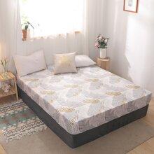 Bettdecke mit Blatt Muster