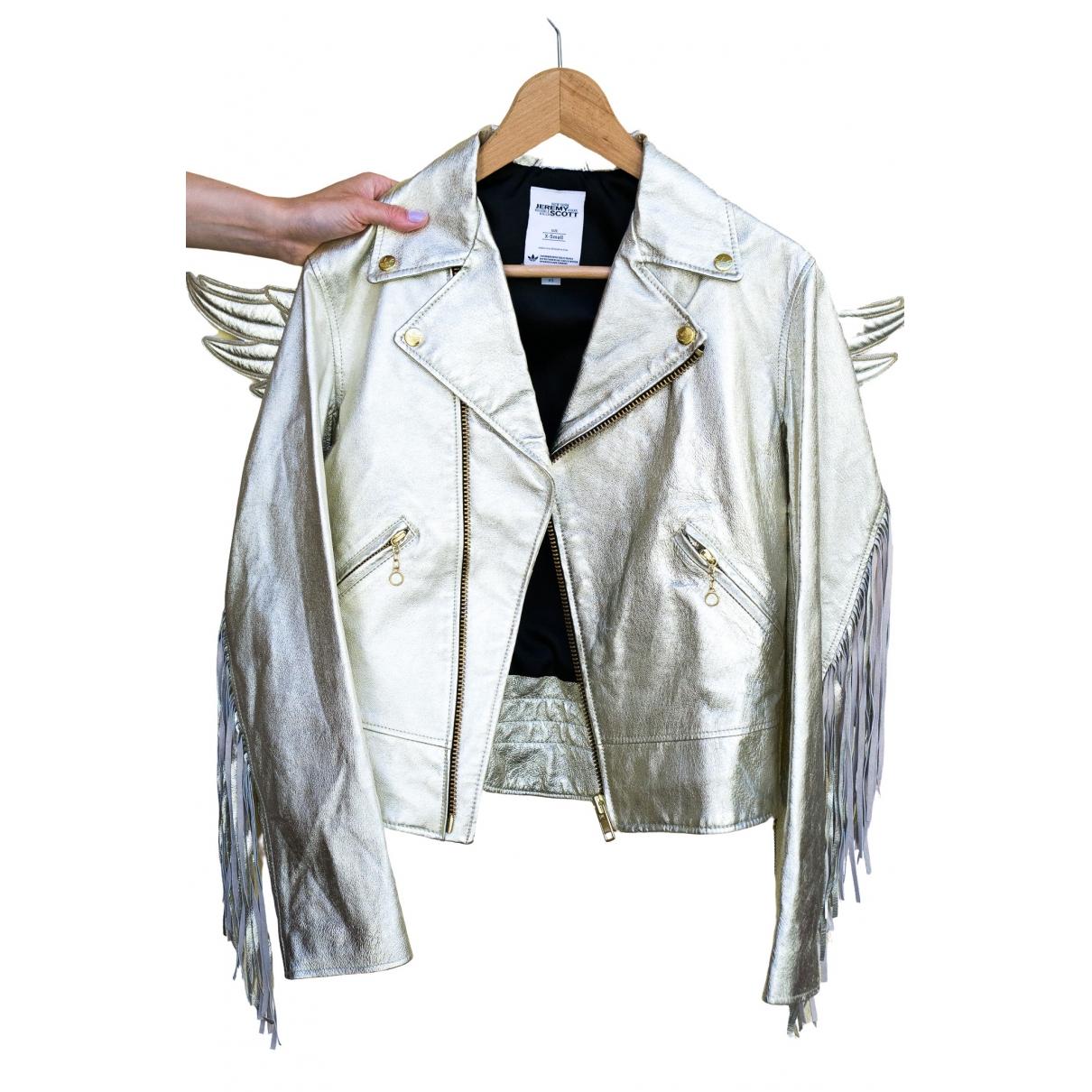 Jeremy Scott Pour Adidas \N Lederjacke in  Gold Leder