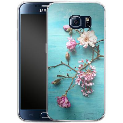 Samsung Galaxy S6 Silikon Handyhuelle - Flowers of Spring von Joy StClaire