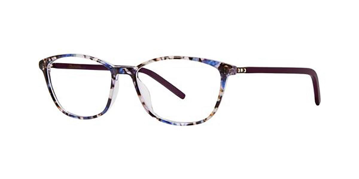 Vera Wang LORALEI Hibiscus Tortoise Women's Glasses Blue Size 52 - Free Lenses - HSA/FSA Insurance - Blue Light Block Available