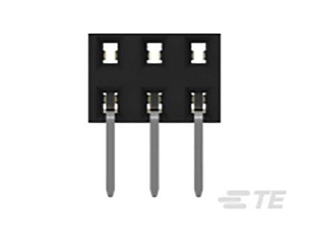 TE Connectivity , AMPMODU, 2314926 2mm Pitch 6 Way 2 Row Horizontal PCB Socket, Through Hole, Solder Termination (400)