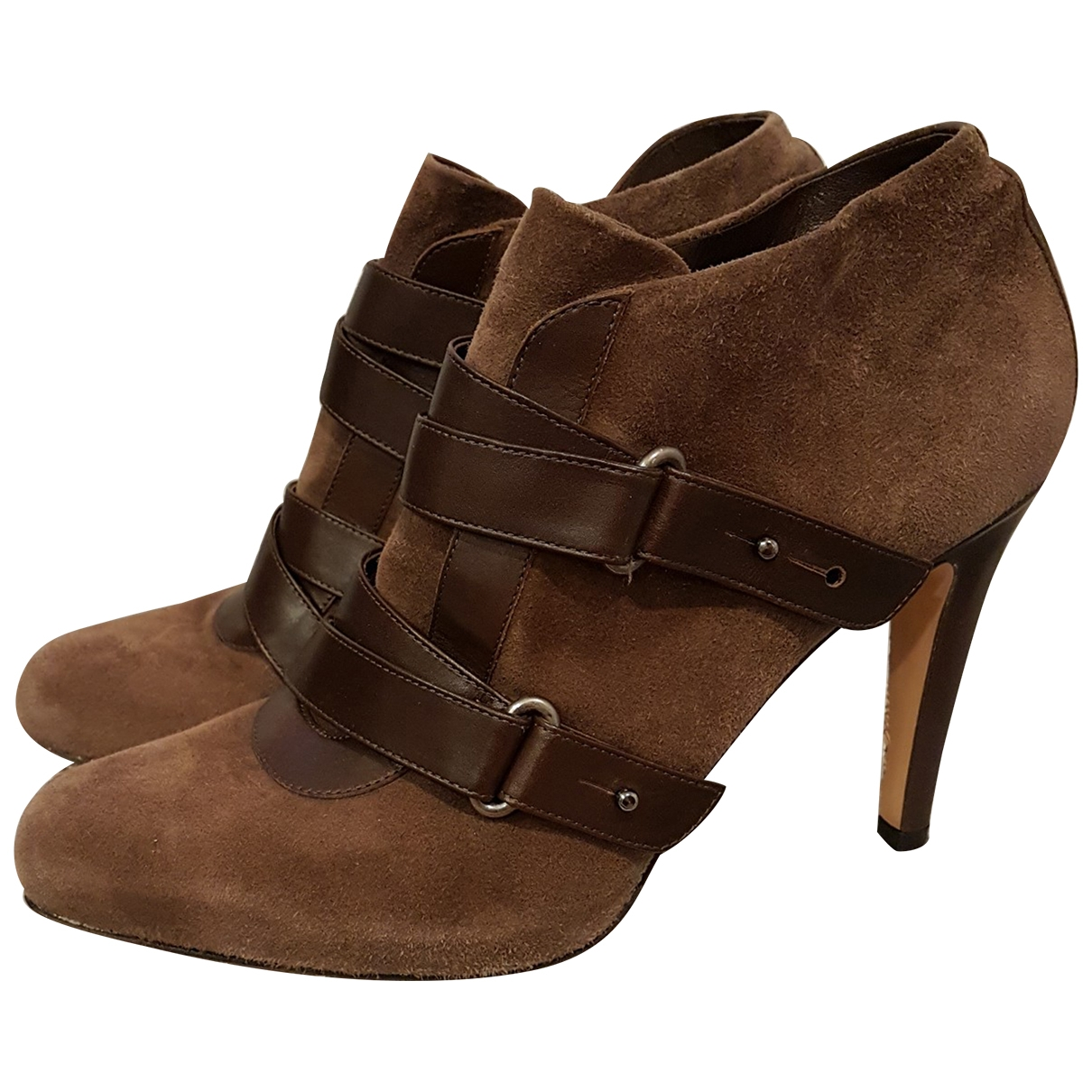 Gianvito Rossi Gianvito Brown Suede Ankle boots for Women 40 EU