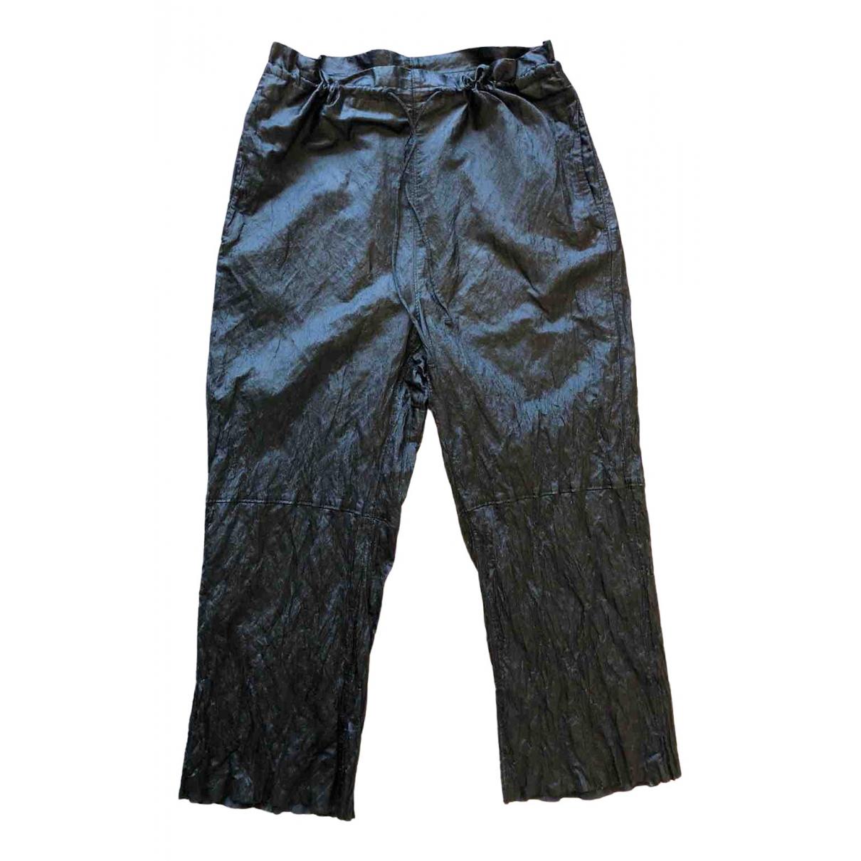 Mm6 \N Black Trousers for Women 38 FR