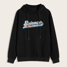 Guys Letter Graphic Hoodie