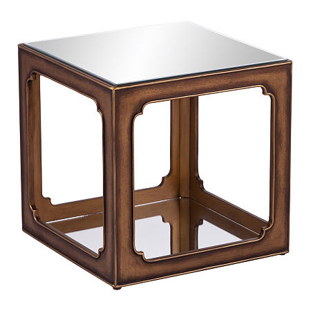 Stemdo Square End Table, One Size , Yellow