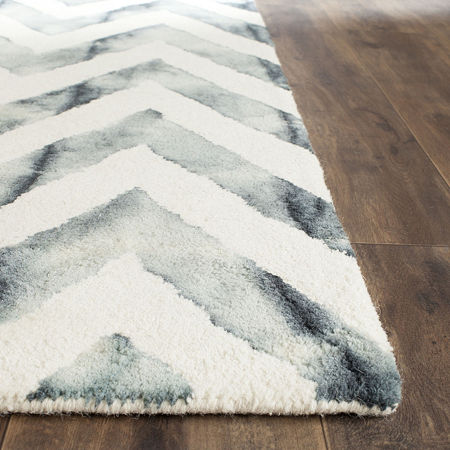 Safavieh Dip Dye Collection Ronnie Chevron Square Area Rug, One Size , Multiple Colors