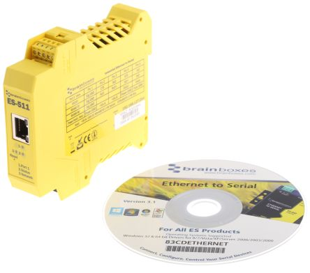 Brainboxes Industrial Interface Converter for use with RS232 Network, RS422/485 Full Duplex, RS485 Network