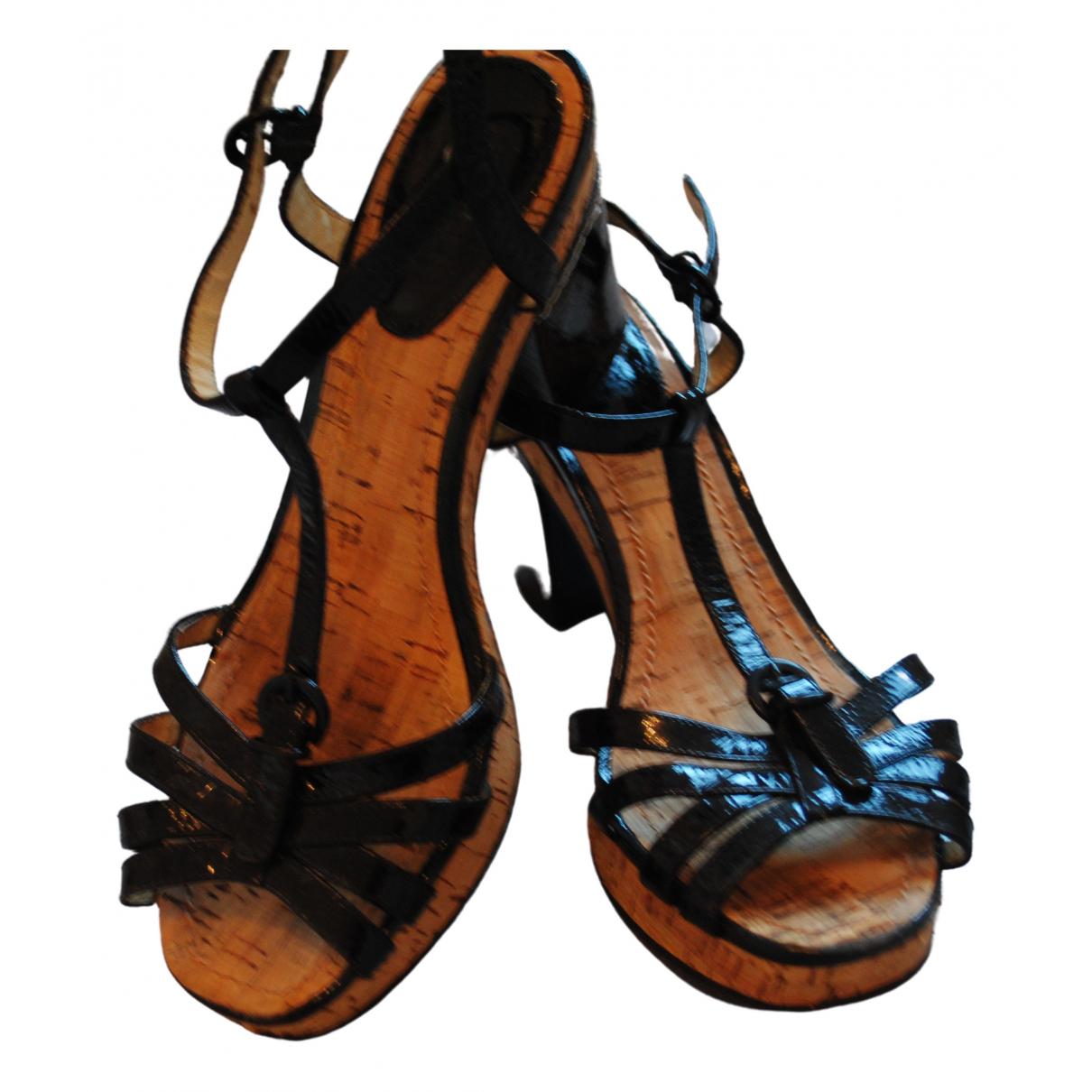 Tommy Hilfiger \N Black Patent leather Sandals for Women 39 EU