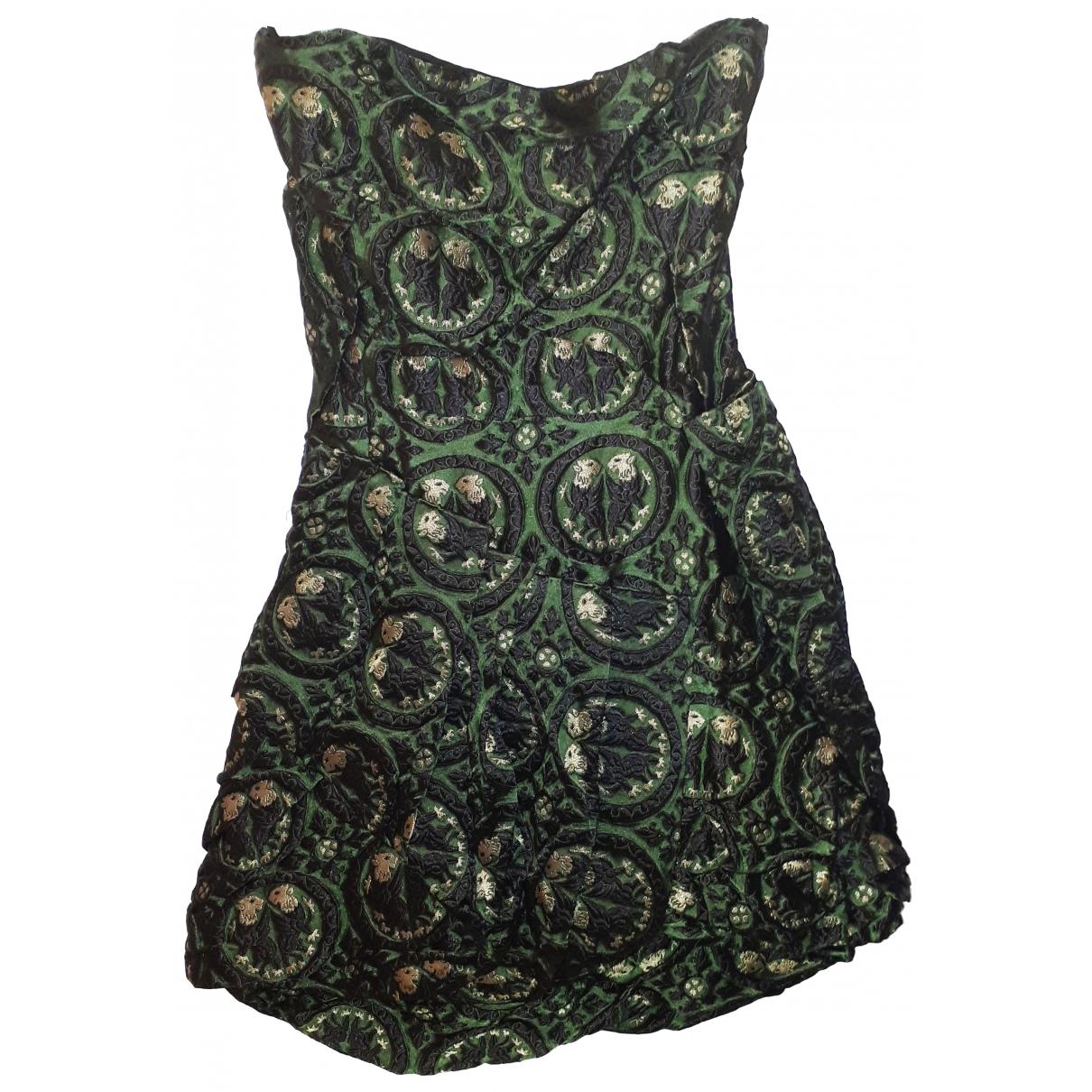 Miu Miu \N Kleid in  Gruen Polyester