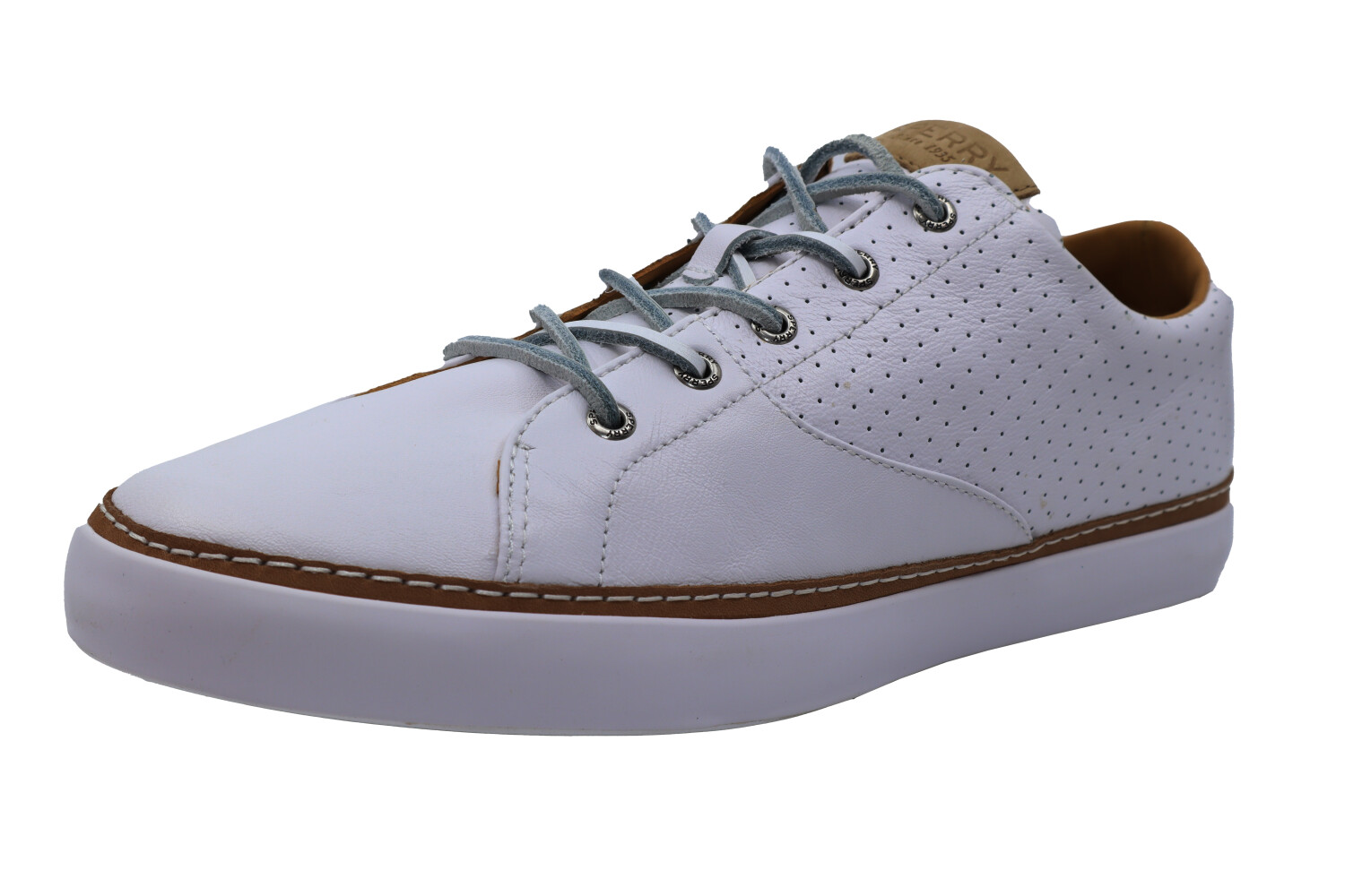 Sperry Men's Gold Cup Haven White Ankle-High Leather Sneaker - 12M