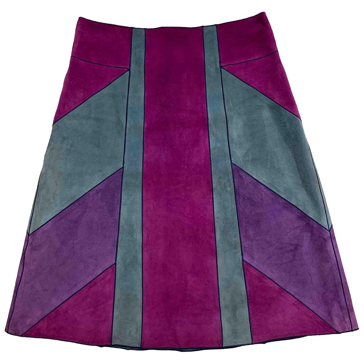 Louis Vuitton \N Multicolour Suede skirt for Women 36 FR