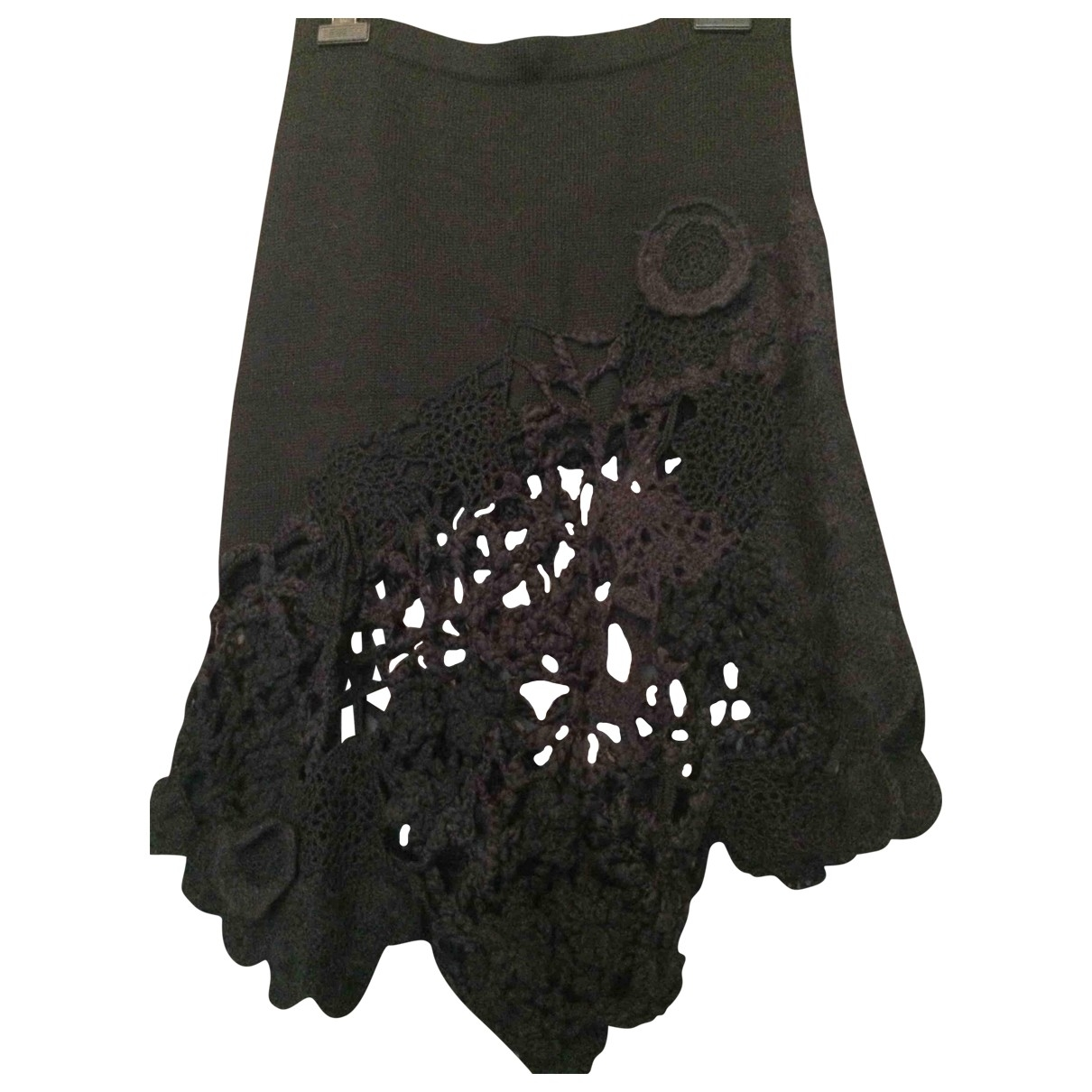 Kenzo - Jupe   pour femme en laine - noir