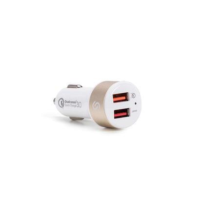 PrimeCables® Chargeur Rapide 3.0 5.4 A Chargeur de voiture Double Port USB
