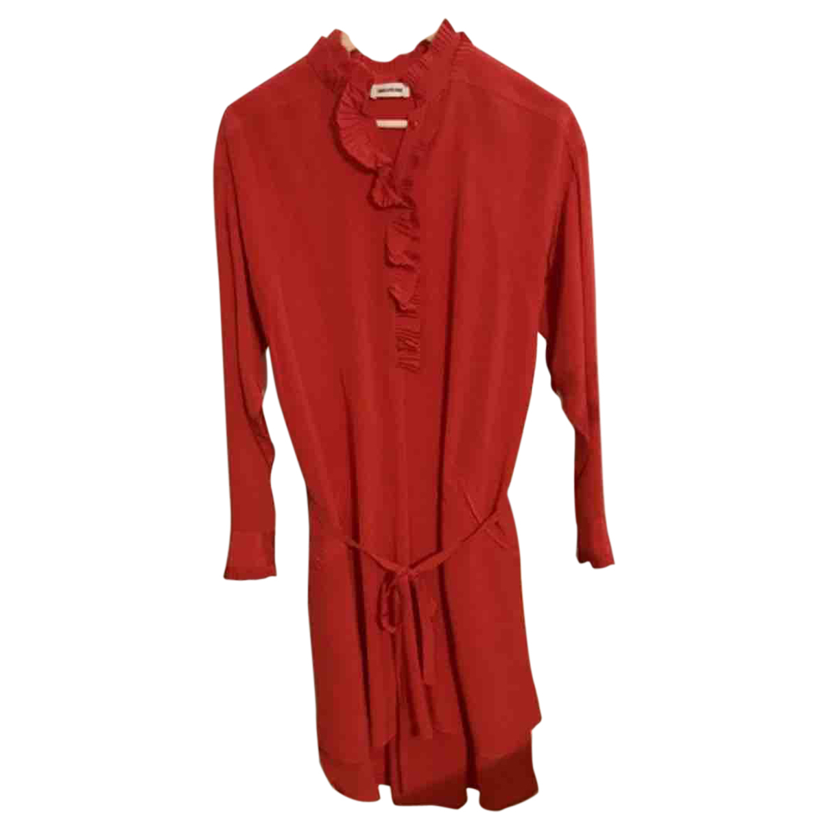 Zadig & Voltaire N Red Silk dress for Women 36 FR