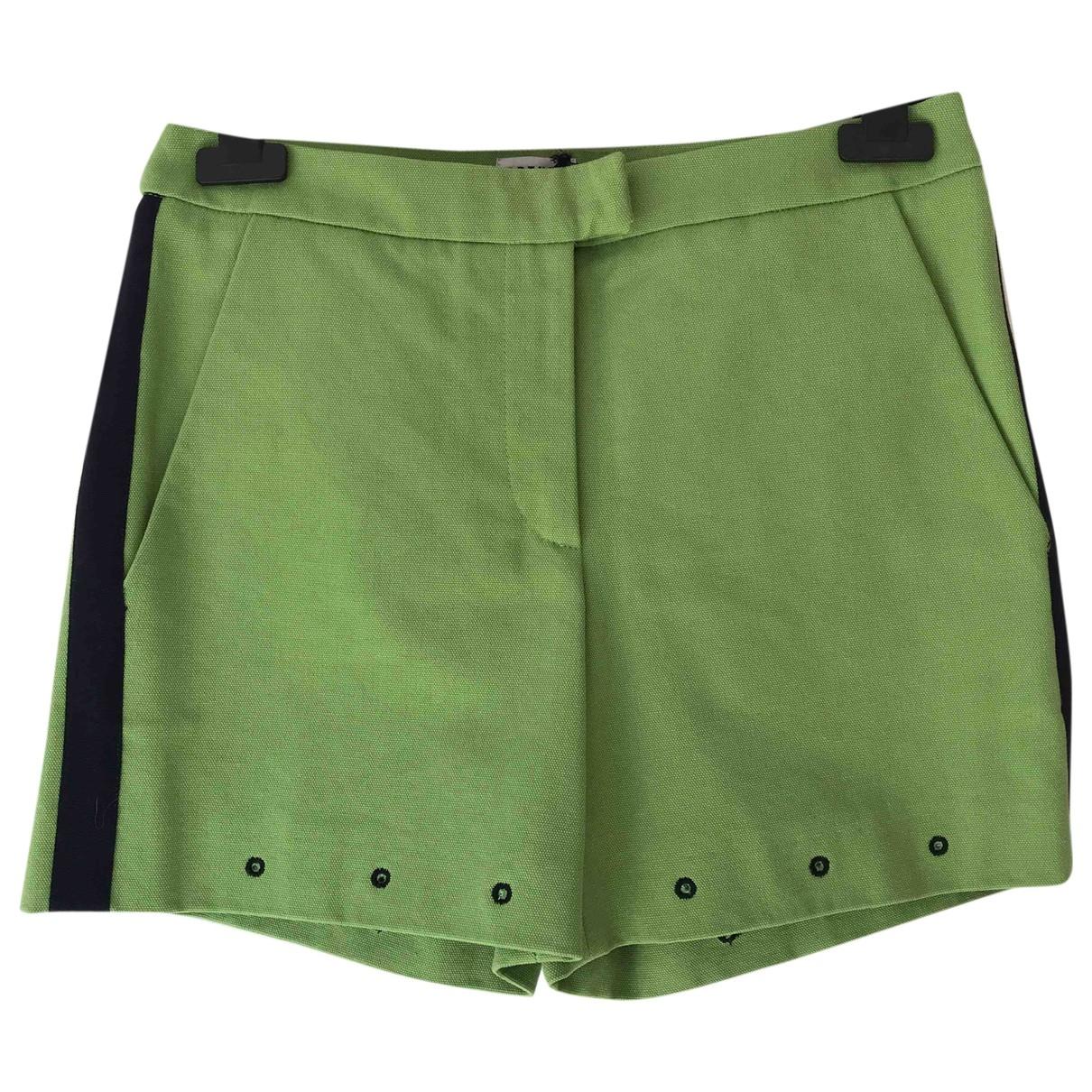 Arthur Arbesser \N Green Cotton Shorts for Women 38 IT