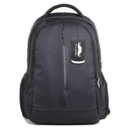 15.6 Water-Proof Multi-Compartment Laptop Backpack, Black - Moustache@