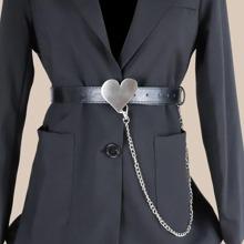 Cinturon con diseño de corazon