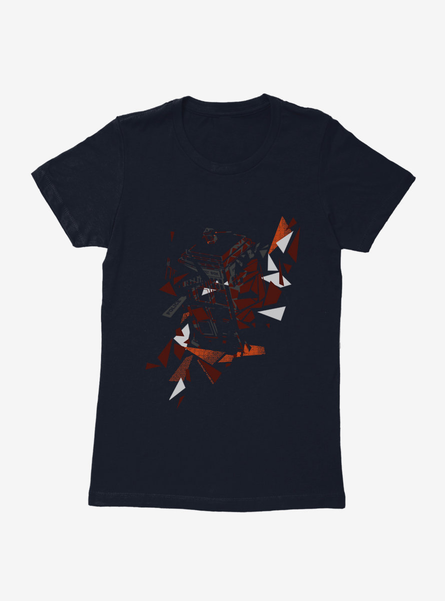 Doctor Who TARDIS In Pieces Womens T-Shirt