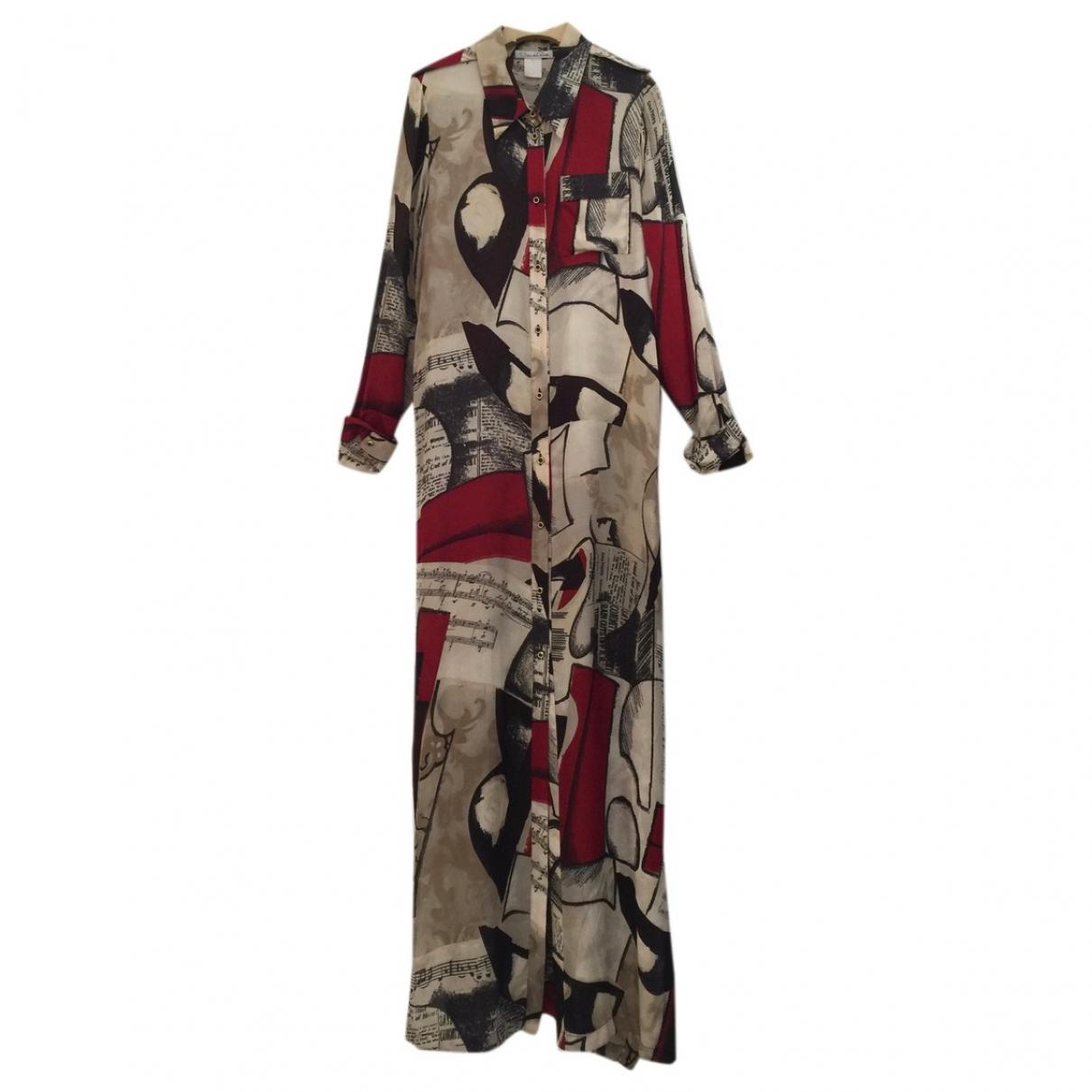 Maxi vestido de Seda Oscar De La Renta