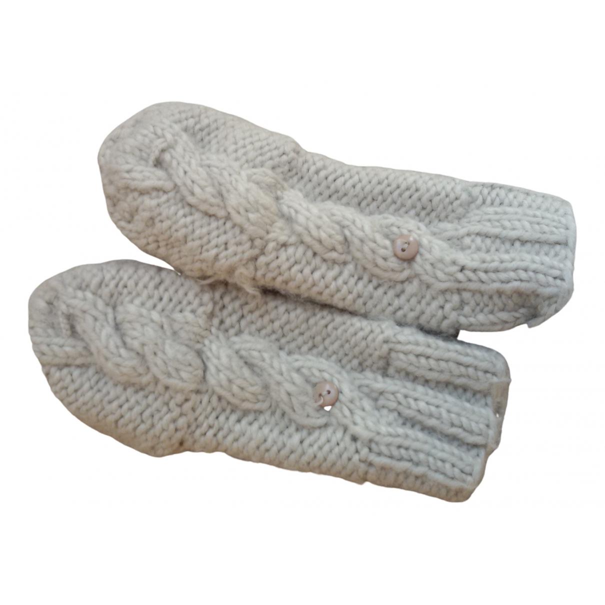 Bonpoint \N Hut, Muetzen, Handschuhe in  Ecru Wolle