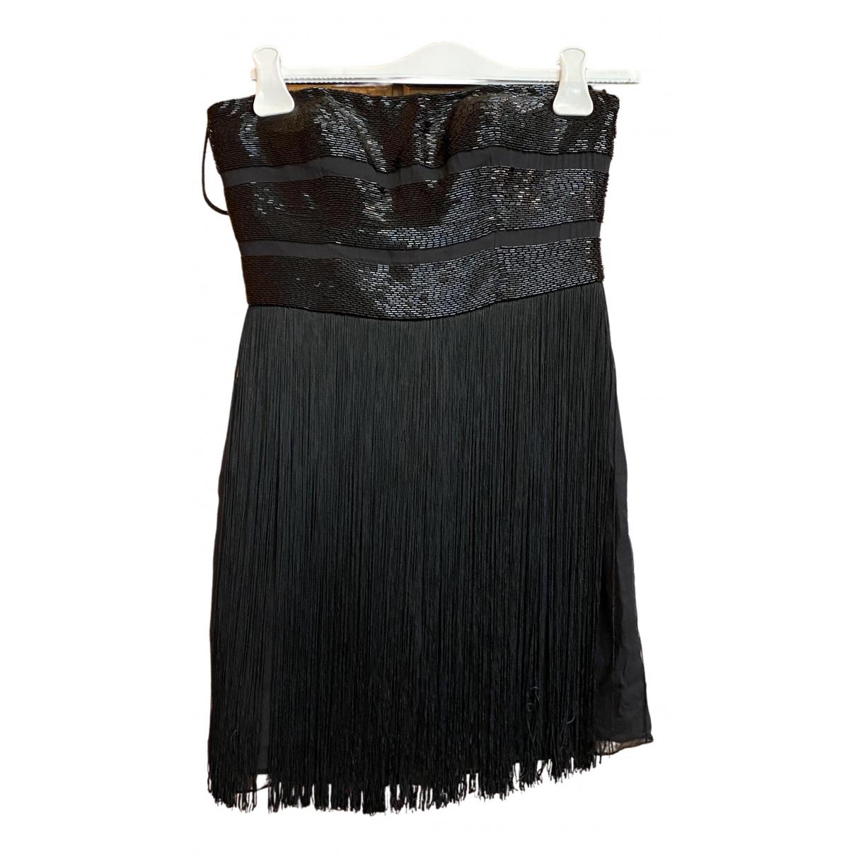 Basix \N Kleid in  Schwarz Seide
