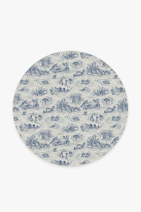 Washable Rug Cover & Pad | Star Wars Toile Blue Rug | Stain-Resistant | Ruggable | 6' Round