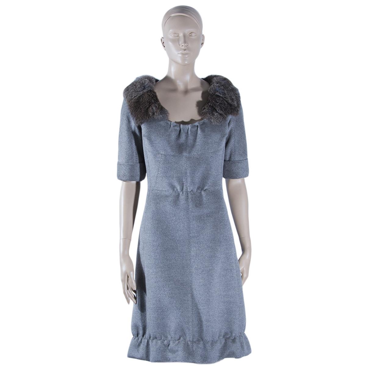 Louis Vuitton - Robe   pour femme en laine - gris