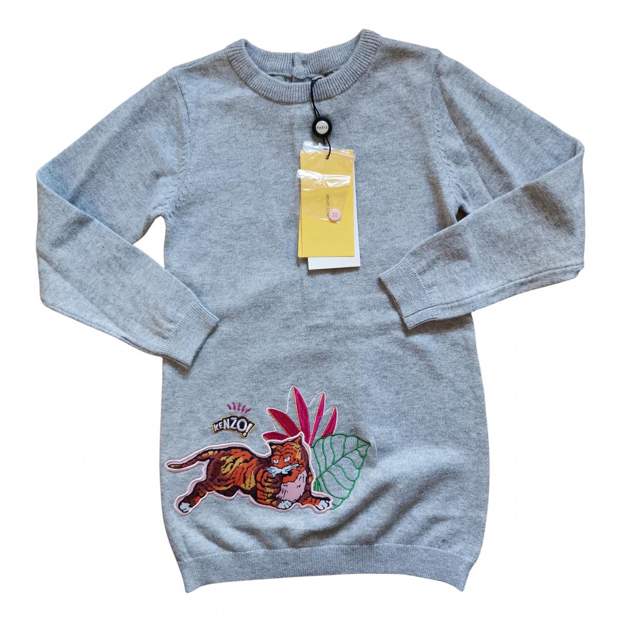 Kenzo - Robe    pour enfant en cachemire - gris