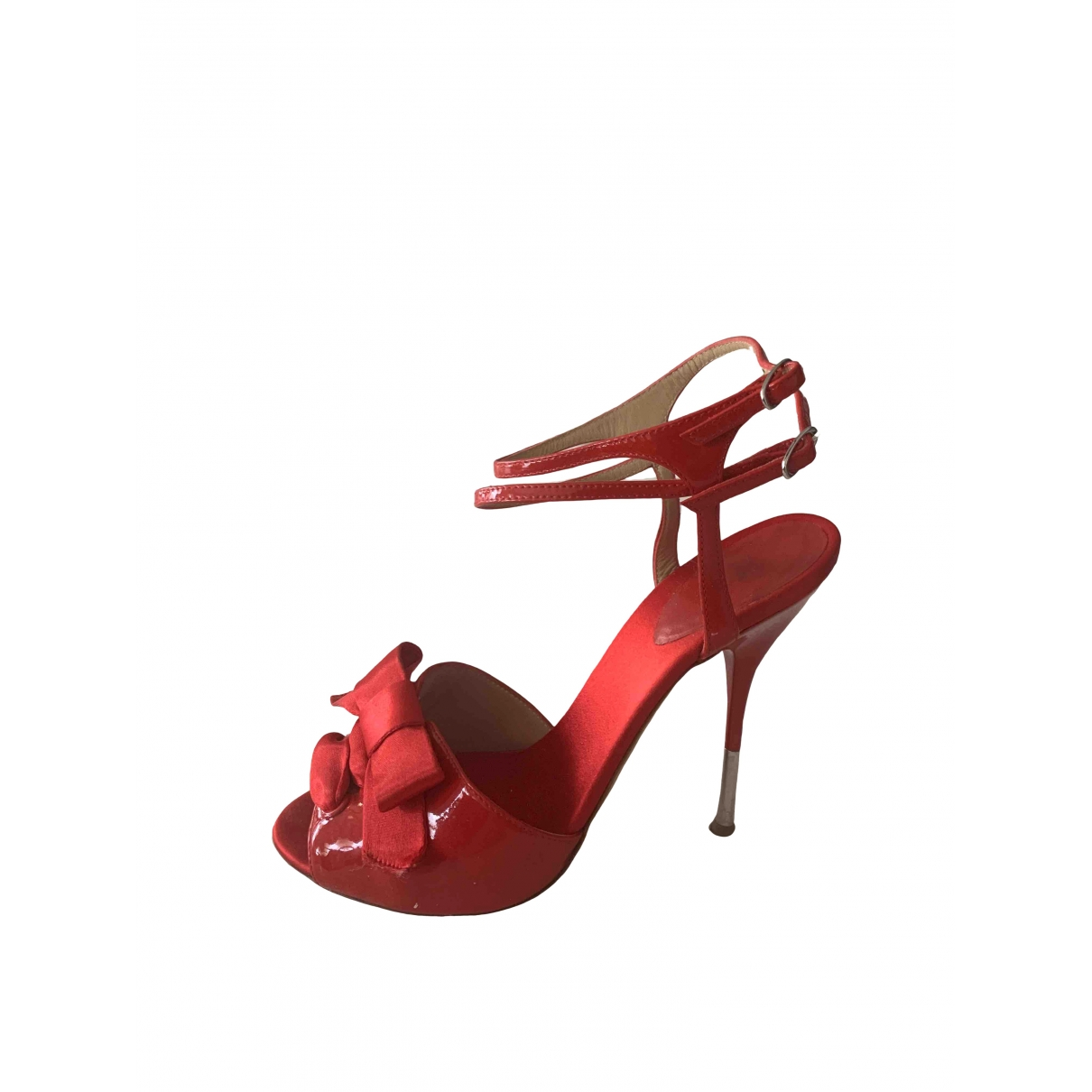 Giuseppe Zanotti \N Red Patent leather Sandals for Women 38 IT