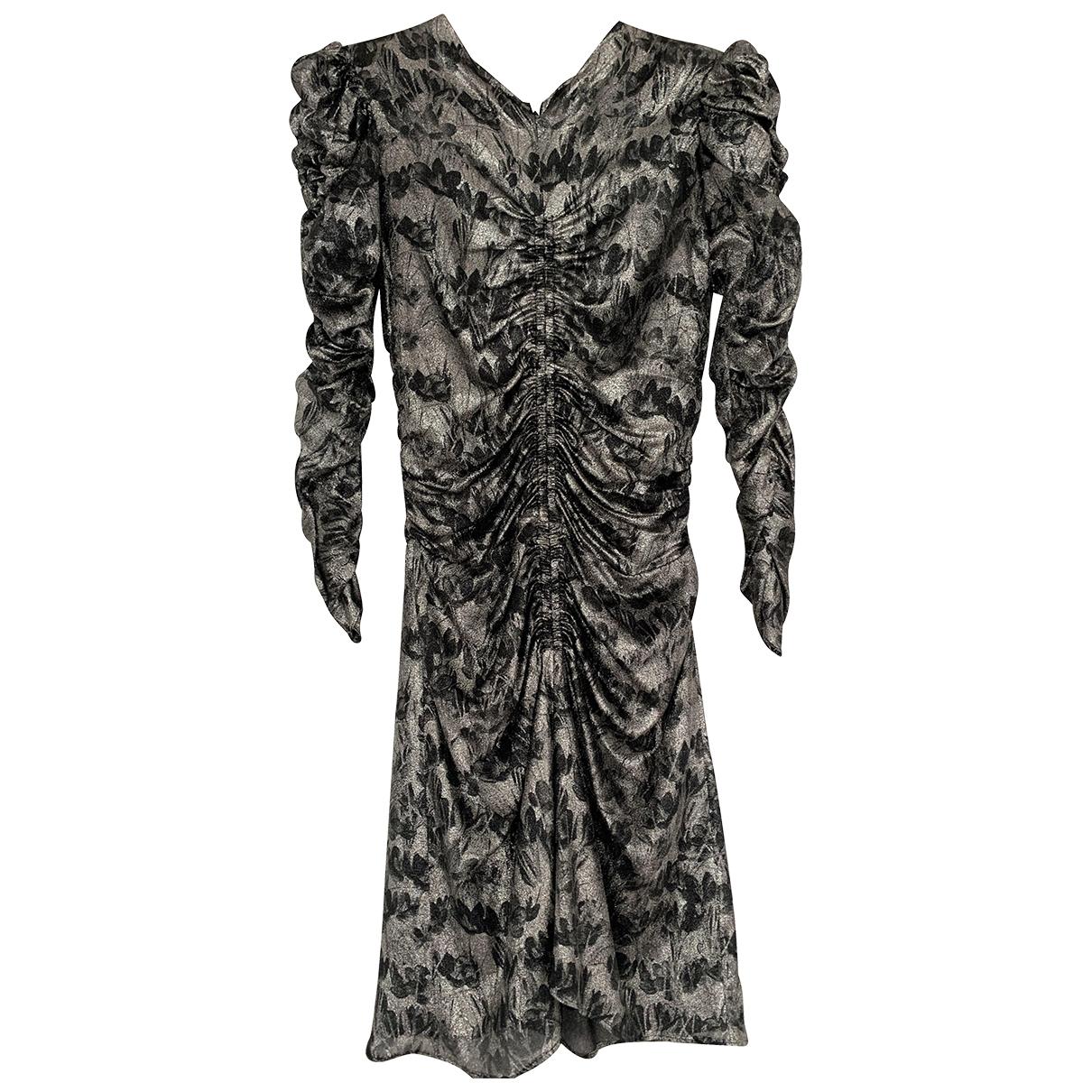 Isabel Marant \N Kleid in  Silber Seide