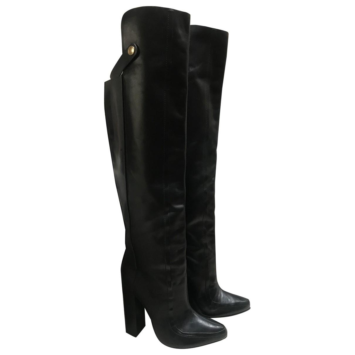Alexander Wang \N Black Leather Boots for Women 38.5 EU