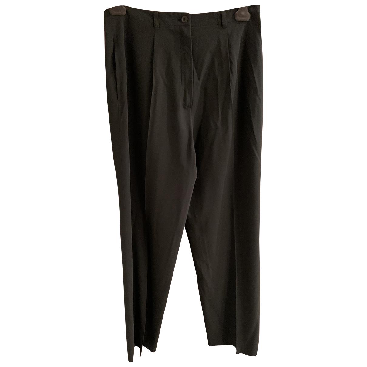 Jil Sander N Black Wool Trousers for Women 40 FR