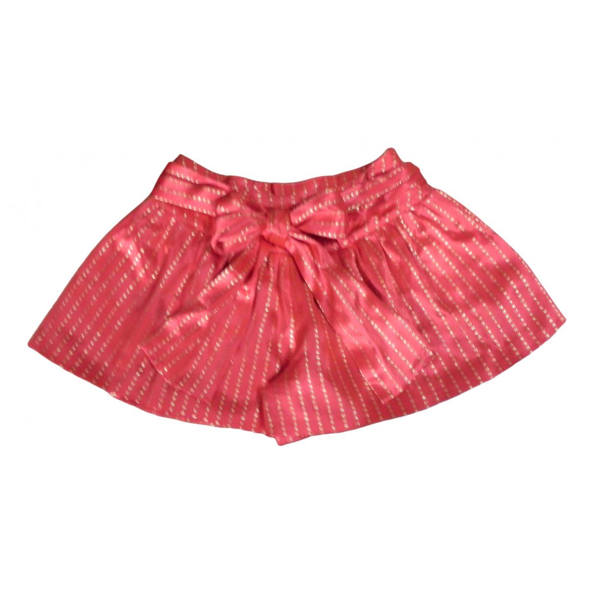 Manoush \N Shorts in  Orange Seide