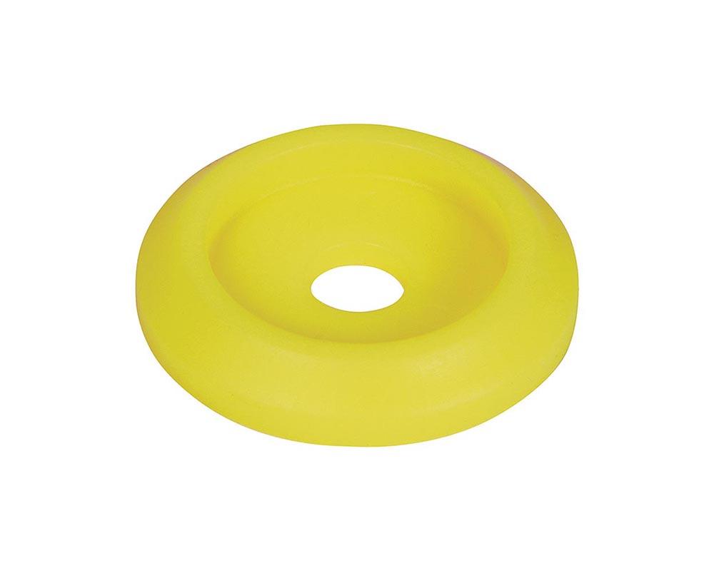Allstar Performance ALL18853-50 Body Bolt Washer Plastic Fluorescent Yellow 50pk ALL18853-50