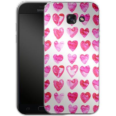 Samsung Galaxy A5 (2017) Silikon Handyhuelle - Heart Speckle von Amy Sia