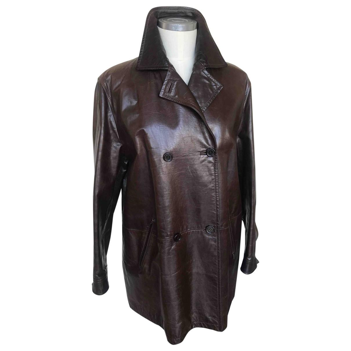 Prada \N Brown Leather jacket for Women 42 IT
