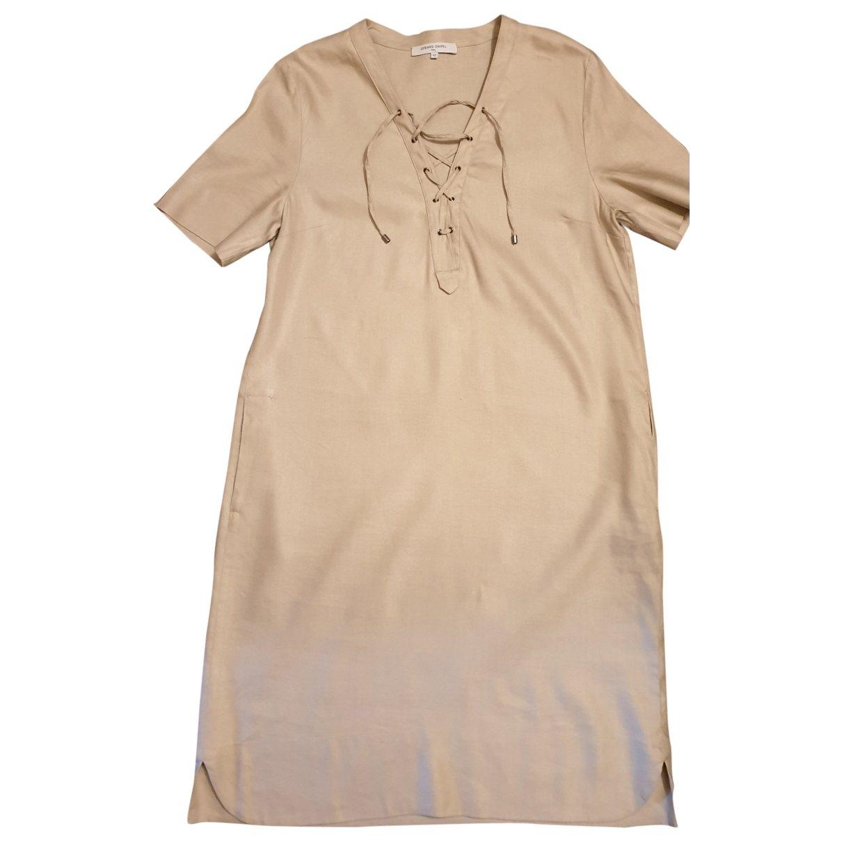 Gerard Darel \N Beige Linen dress for Women 42 FR