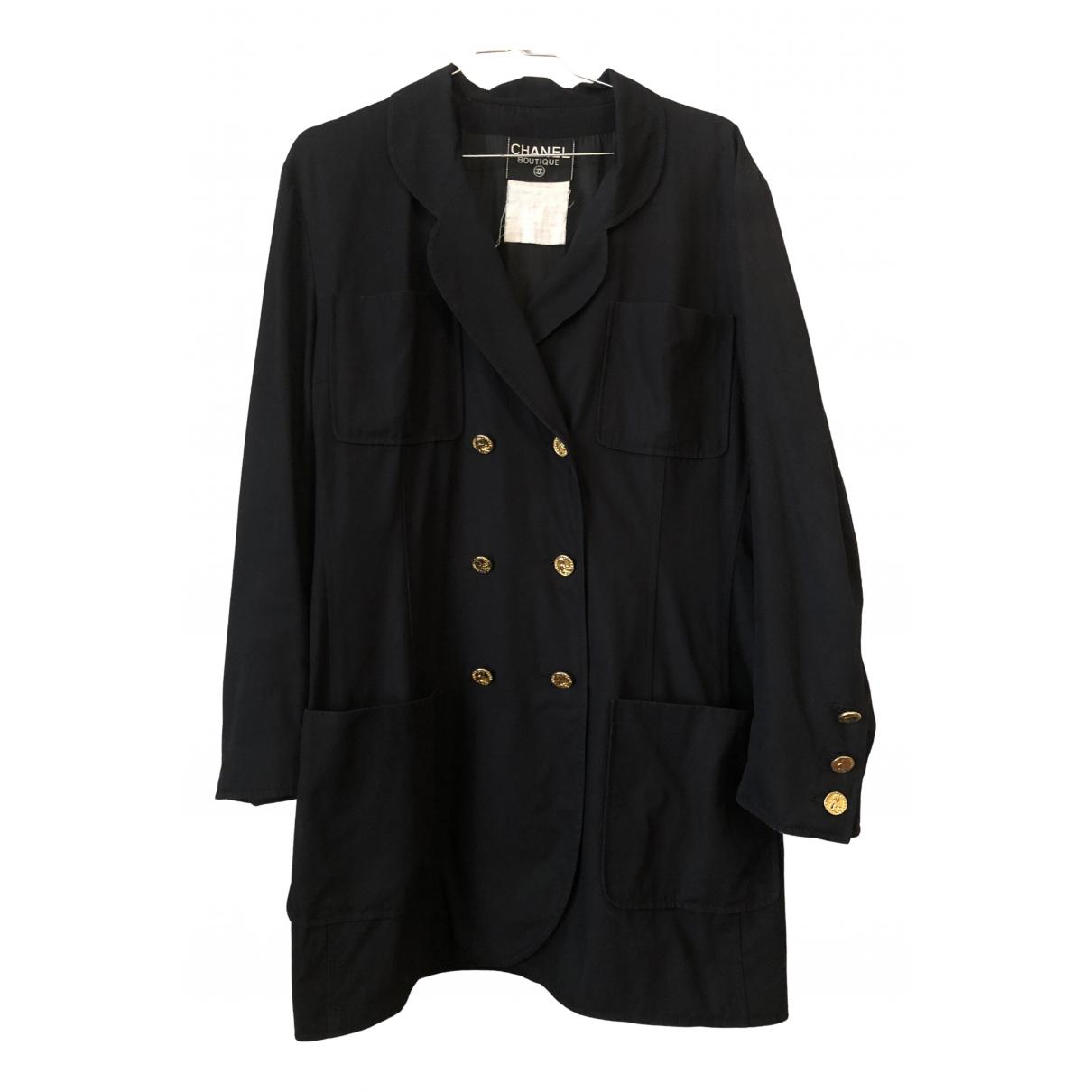 Chanel N Black Cotton jacket for Women 42 FR