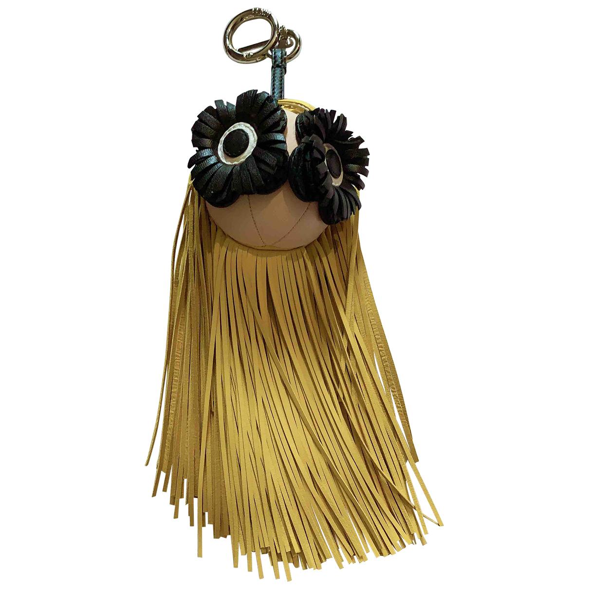 Fendi - Bijoux de sac   pour femme en cuir - jaune