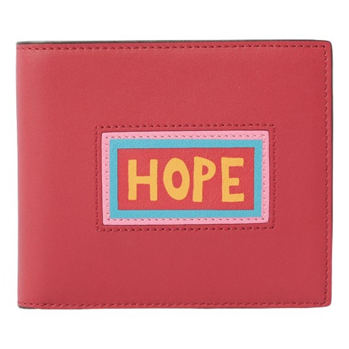 Fendi N Red Leather wallet for Women N