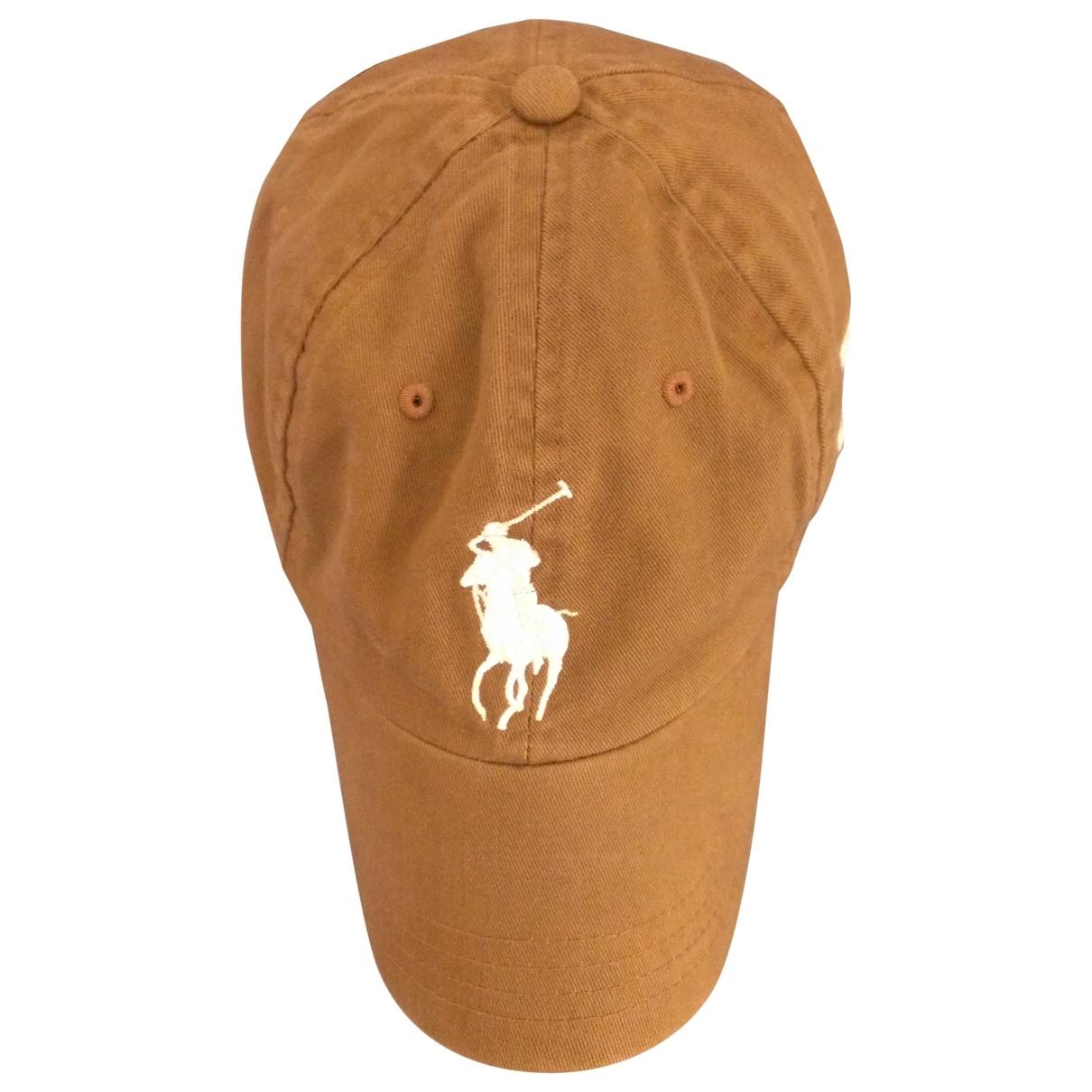 Polo Ralph Lauren - Chapeau   pour femme en coton - marron