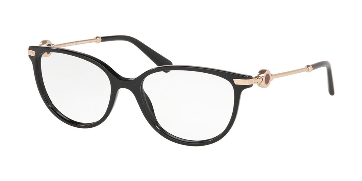 Bvlgari BV4179F Asian Fit 501 Women's Glasses Black Size 54 - Free Lenses - HSA/FSA Insurance - Blue Light Block Available
