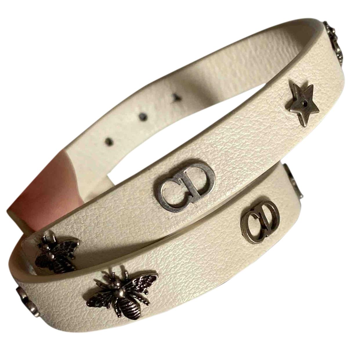 Dior - Bracelet Dio(r)evolution pour femme en cuir - blanc