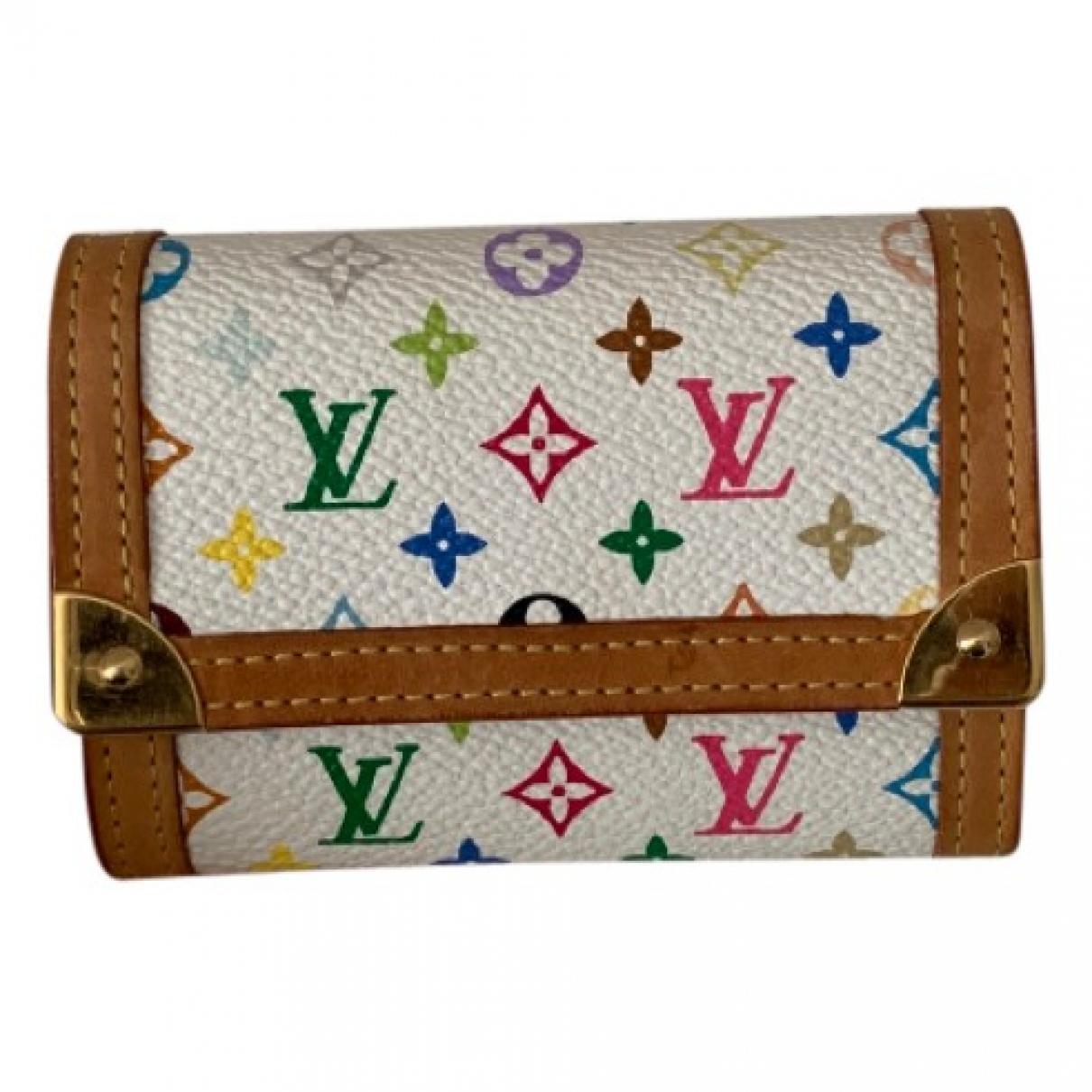 Louis Vuitton \N Portemonnaie in  Bunt Leinen